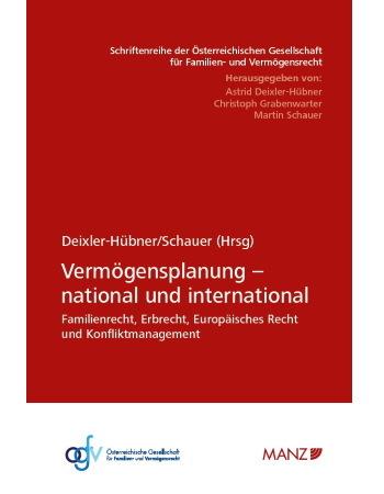 Deixler-Hübner/Schauer (Hrsg), Tagungsband Vermögensplanung (2019)